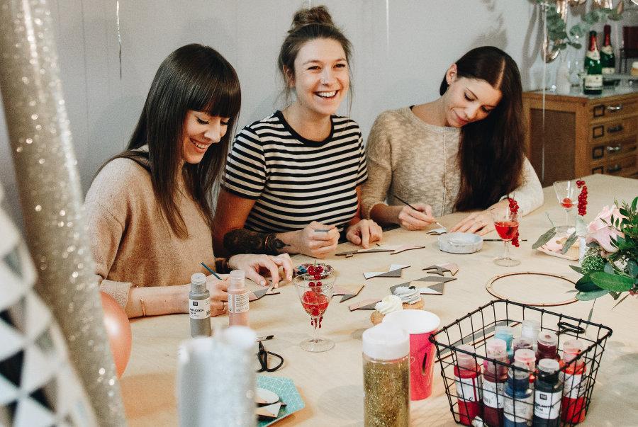 kreative Babyparty in Leipzig feiern mit einem tollen Kreativworkshop von FLAMINGOCAT