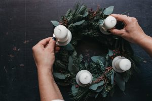 DIY Adventskranz Workshop