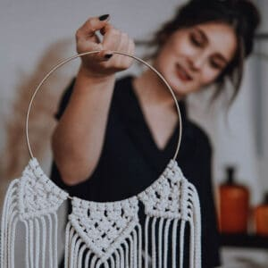 DIY Set Makramee Wallhanging Dreamcatcher Traumfänger