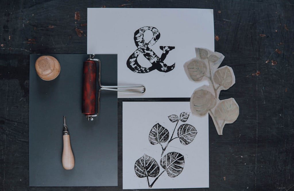 Linoldruck Workshop DIY Kurs Botanical Printing Druckwerkstatt